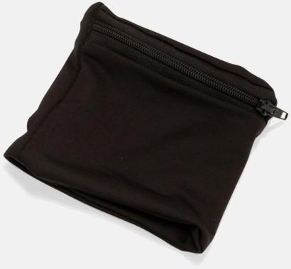 Svart Plånbok att bära runt handleden med eget tryck