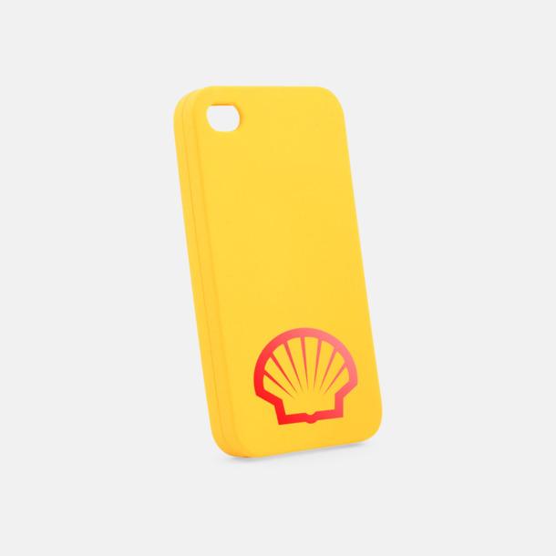 Gul Mjuka mobilskal för iPhone