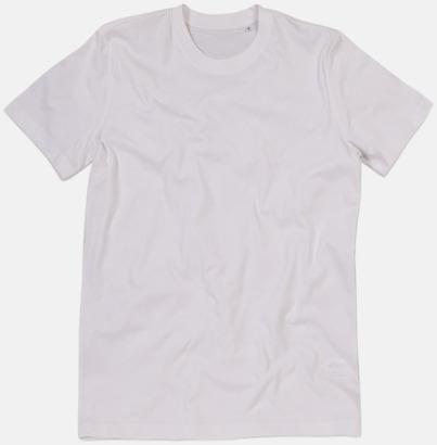 Vit (crew-neck herr) Ekologiska t-shirts i flera modeller och många färger - med reklamtryck