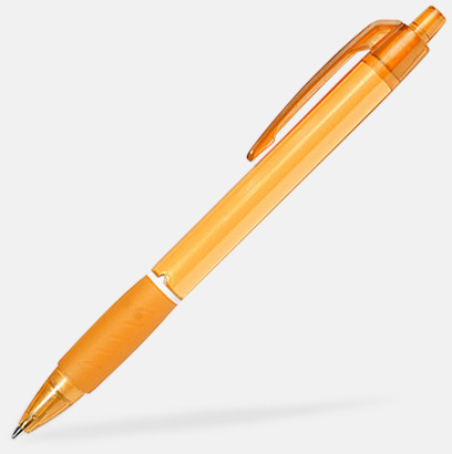 Orange Bläckpennor med tryck