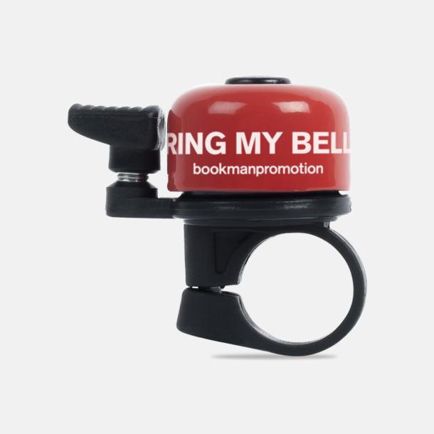 Röd Ringklocka för cykeln - med tryck