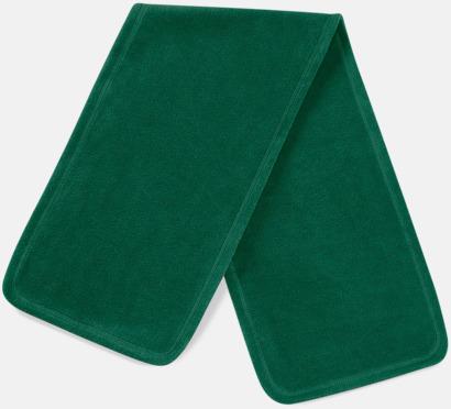 Forest Green Mjuka och noppfria fleeceskarfar med reklambrodyr