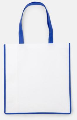 Cobalt Blue/Vit Shoppingbagar i Non woven med tryck