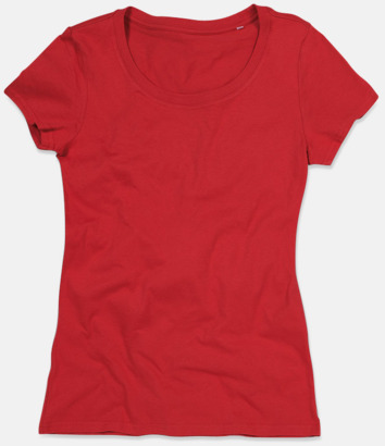 Pepper Red (crew-neck dam) Ekologiska t-shirts i flera modeller och många färger - med reklamtryck