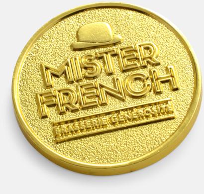 """""""Erosion Effect"""" på nedsänkt metall Mynt med egen logo"""