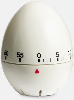 Vit Klassiska äggklockor med reklamtryck