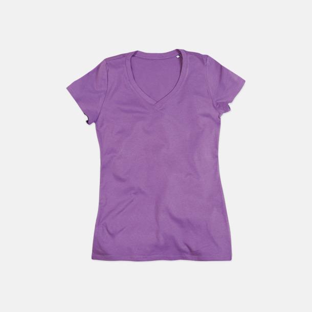 Lavender Purple (v-neck dam) Ekologiska t-shirts i flera modeller och många färger - med reklamtryck
