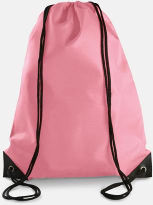 Rosa Billiga gympapåsar med eget tryck