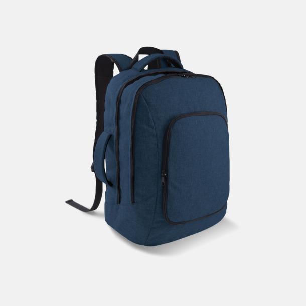 Marinblå Snygga laptopväskor med ryggremmar - med tryck