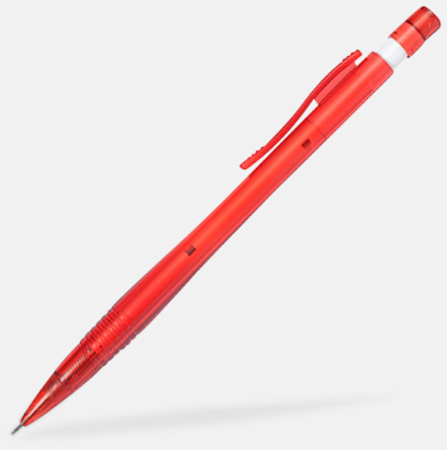 Röd / Transparent Stiftpennor med tryck
