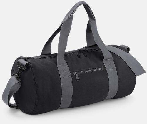 Svart/Graphite Grey Sportbagar i camomönster med reklamtryck