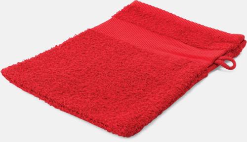 Röd Småhanddukar i många färger med brodyr