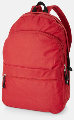 Röd Trendigt designade ryggsäckar med tryck