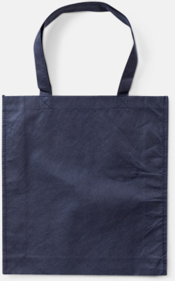 Marinblå Trendiga shoppingbagar i non woven - med tryck