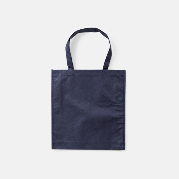 Deep Blue Trendiga shoppingbagar i non woven - med tryck