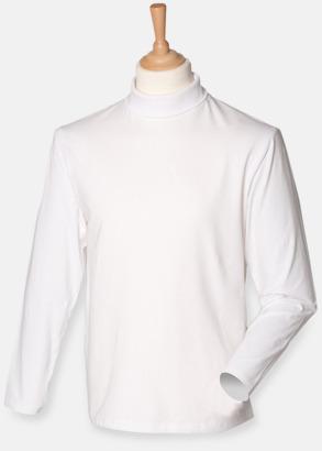 Vit  Långärmade t-shirts i herrmodell