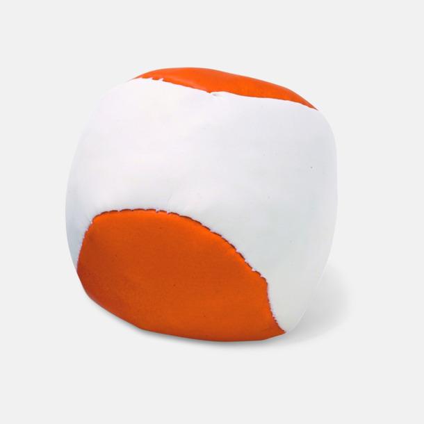 Orange / Vit Billiga jongleringsbollar med reklamtryck