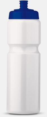 Vit/Blå (75 cl) Kompakta vattenflaskor i 2 storlekar med reklamtryck