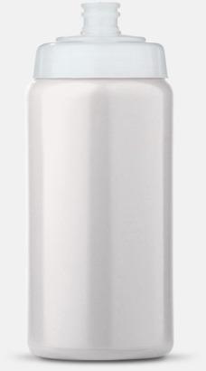 Vit/Transparent (50 cl) Kompakta vattenflaskor i 2 storlekar med reklamtryck