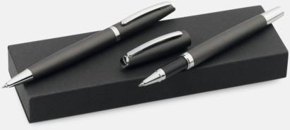 Mörkgrå (matt) Prisvärt pennset i aluminium med reklamtryck