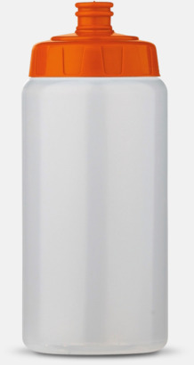 Transparent/Orange (50 cl) Kompakta vattenflaskor i 2 storlekar med reklamtryck