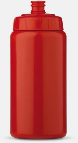 Röd (50 cl) Kompakta vattenflaskor i 2 storlekar med reklamtryck