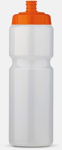 Transparent/Orange (75 cl) Kompakta vattenflaskor i 2 storlekar med reklamtryck