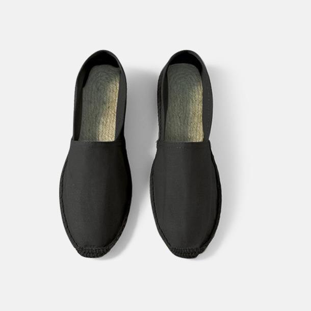 Svart Sandaler i herr- och dammodell med reklamtryck
