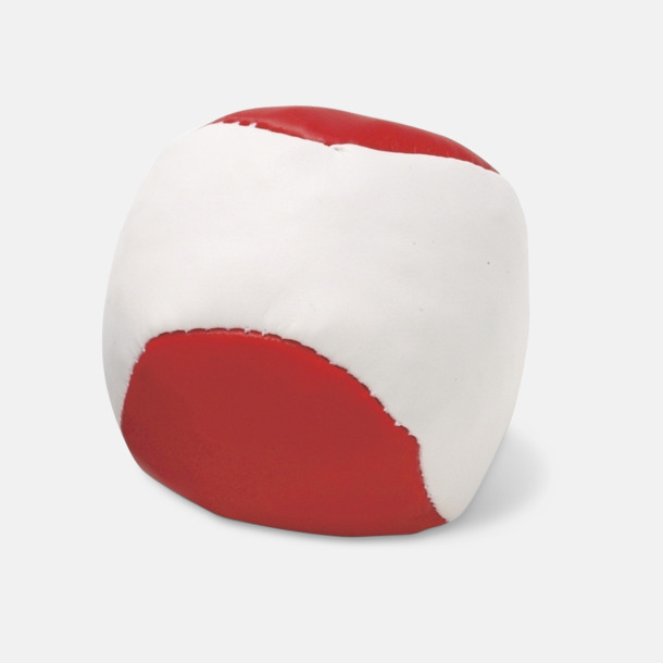 Röd / Vit Billiga jongleringsbollar med reklamtryck