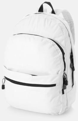Vit Trendigt designade ryggsäckar med tryck