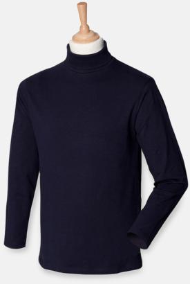 Marinblå  Långärmade t-shirts i herrmodell