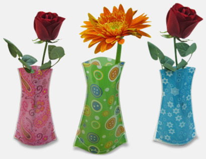 Formbara vaser med reklamtryck