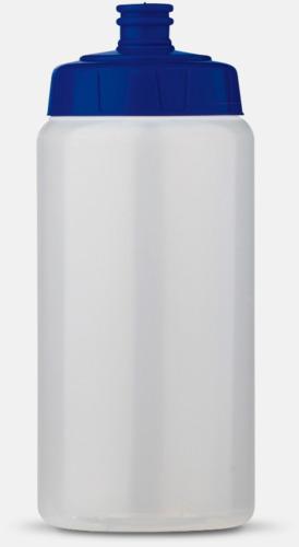 Transparent/Blå (50 cl) Kompakta vattenflaskor i 2 storlekar med reklamtryck