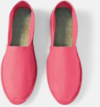 Fluo Pink Sandaler i herr- och dammodell med reklamtryck