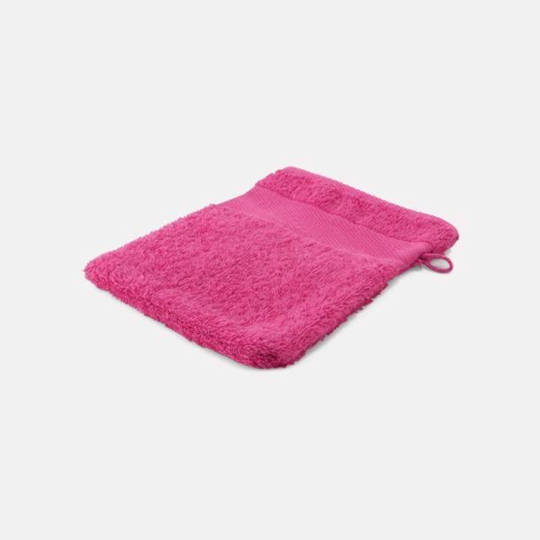 Rosa Småhanddukar i många färger med brodyr