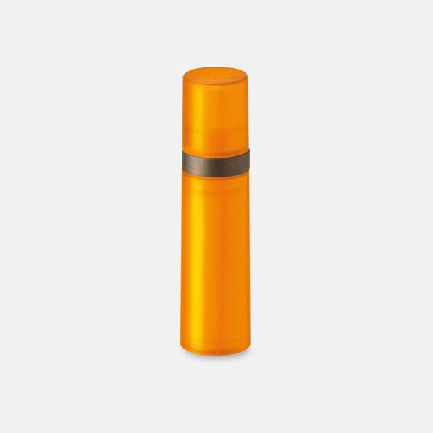Orange Pumpsprej med olika innehåll med reklamtryck