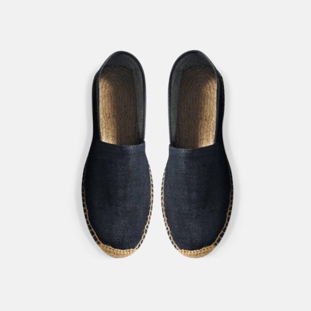 Deep Blue Denim Sandaler i herr- och dammodell med reklamtryck