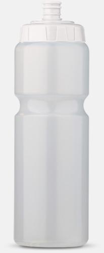 Transparent/Vit (75 cl) Kompakta vattenflaskor i 2 storlekar med reklamtryck