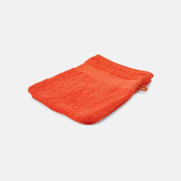 Orange Småhanddukar i många färger med brodyr