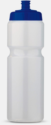 Transparent/Blå (75 cl) Kompakta vattenflaskor i 2 storlekar med reklamtryck