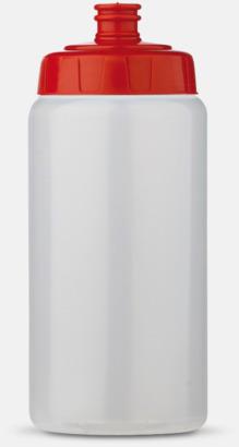 Transparent/Röd (50 cl) Kompakta vattenflaskor i 2 storlekar med reklamtryck