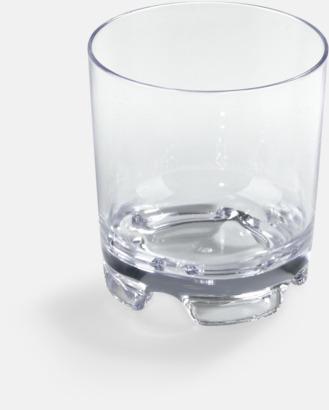Transparent Drinkglas i plast med reklamtryck
