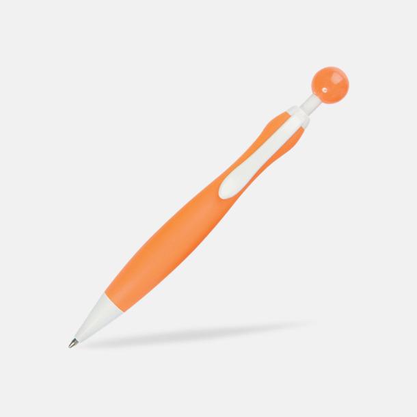 Orange/Vit Billiga bläckpennor i unik design med reklamtryck