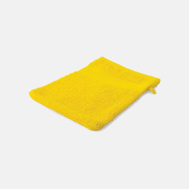 Gul Småhanddukar i många färger med brodyr
