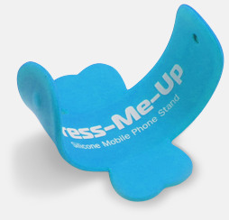 Ljusblå Flexibla mobilställ av silikon med reklamtryck