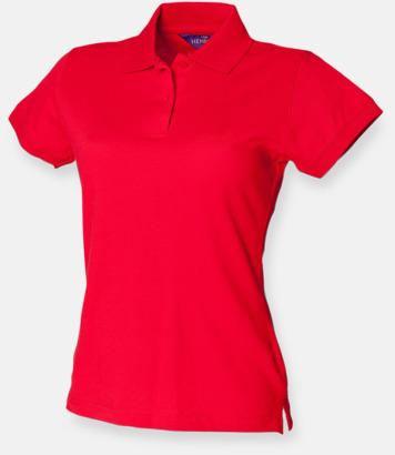 Classic Red (dam) Stretchiga pikéer i herr- och dammodell med reklamtryck