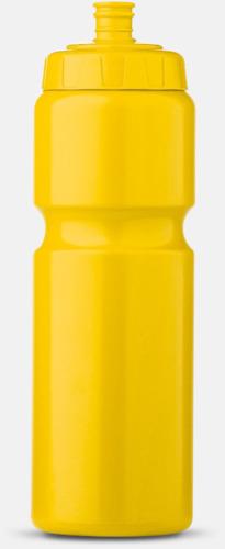 Gul (75 cl) Kompakta vattenflaskor i 2 storlekar med reklamtryck