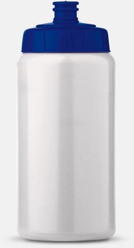 Vit/Blå (50 cl) Kompakta vattenflaskor i 2 storlekar med reklamtryck