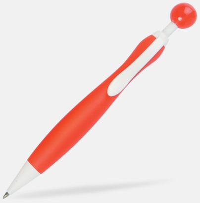 Röd/Vit Billiga bläckpennor i unik design med reklamtryck