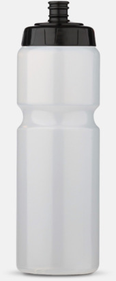 Transparent/Svart (75 cl) Kompakta vattenflaskor i 2 storlekar med reklamtryck